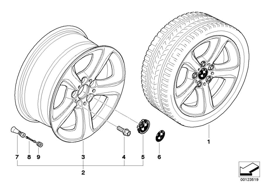 BMW 330xi Light alloy rim. 8JX17 ET:47. Wheels, Wheel