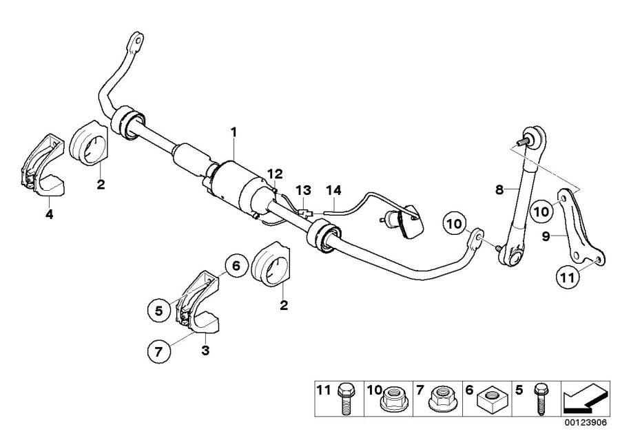 BMW 530i Active stabilizer bar. D=21, 8MM. Suspension