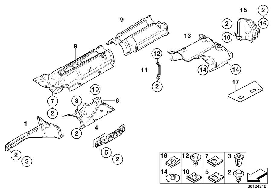 BMW 745Li Sheet metal nut, self-locking. Trim, Body