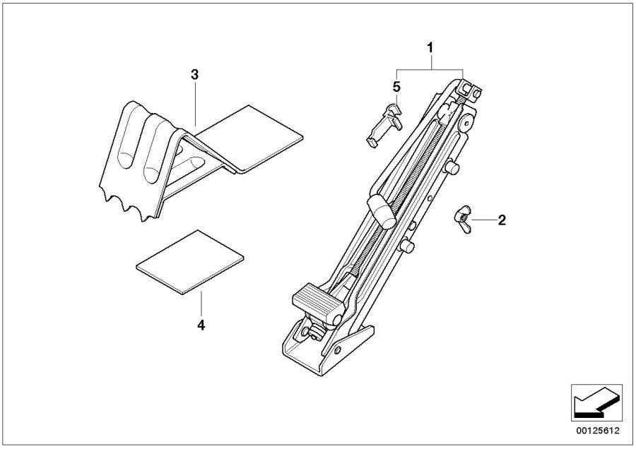 BMW 540i Clamp, lifting jack. Tool, Kit, Equipment