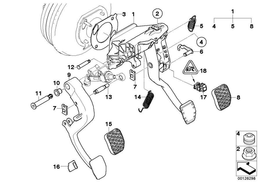 BMW 530i Pin, master cylinder. D=12MM/L=61MM. Clutch