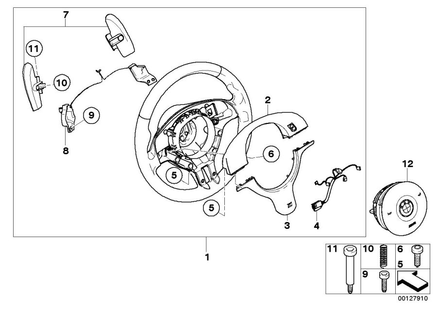 BMW M3 M cover. TITAN-SHADOW. Airbag, Sports, Strng