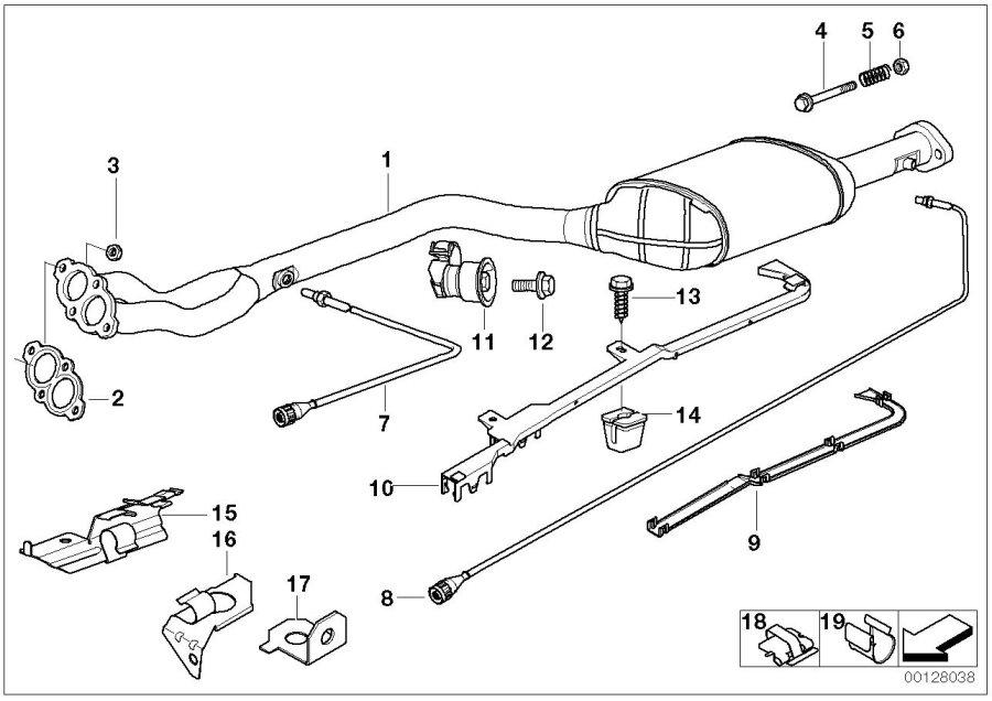 BMW 318i Lambda Monitor sensor. L=955MM > 765MM. System