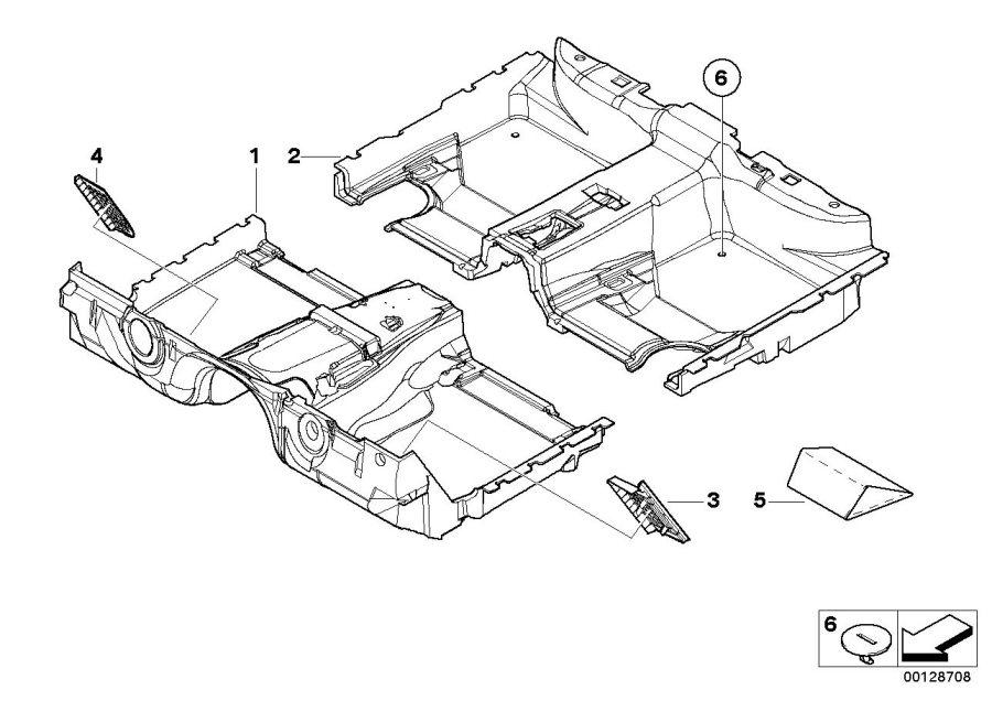 BMW 745Li Floor trim, front. BEIGE. Interior, Equipment