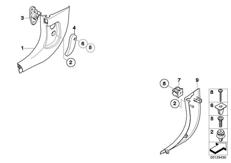 BMW 525i Lever f engine hood mechanism. Trim, Body