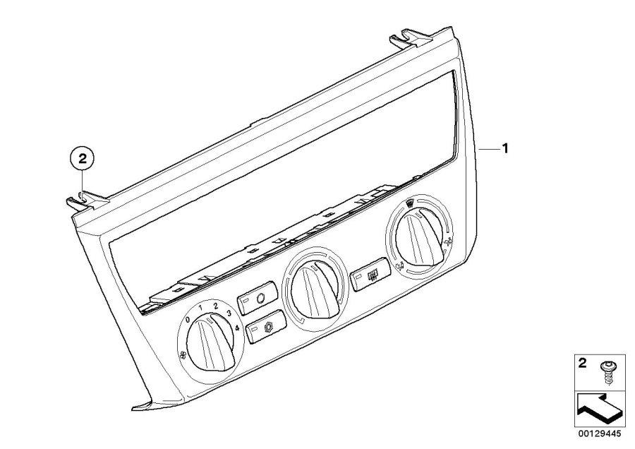 BMW X3 Air Conditioning Control. GRAU. Heater