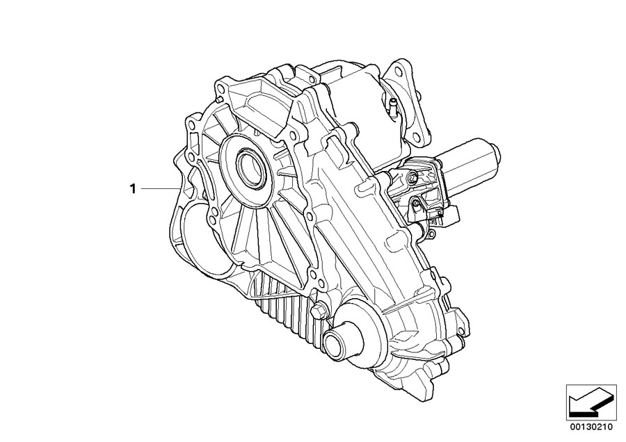 BMW X5 At-auxiliary transmission. Atc 500. Transfer, case
