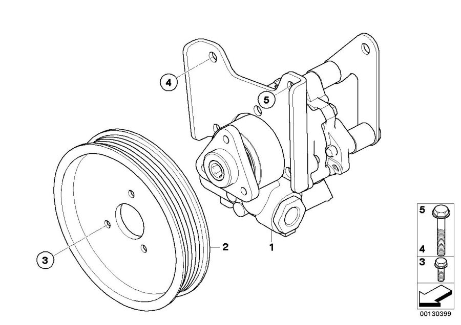BMW X3 Pulley. D=116MM. Steering, Pump, Power