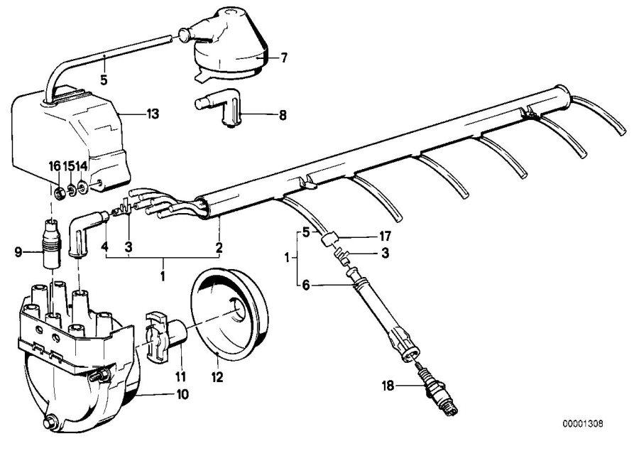 2006 BMW 325i Spark plug socket. IGNITION, System, WIRING