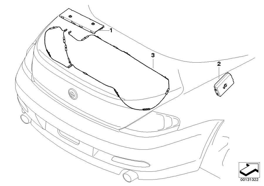 BMW 645Ci Antenna amplifier, Diversity. 87, 5-108 MHZ