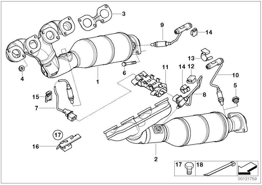 BMW 645Ci Gasket Asbestos Free. Exhaust, Repair, Manifold