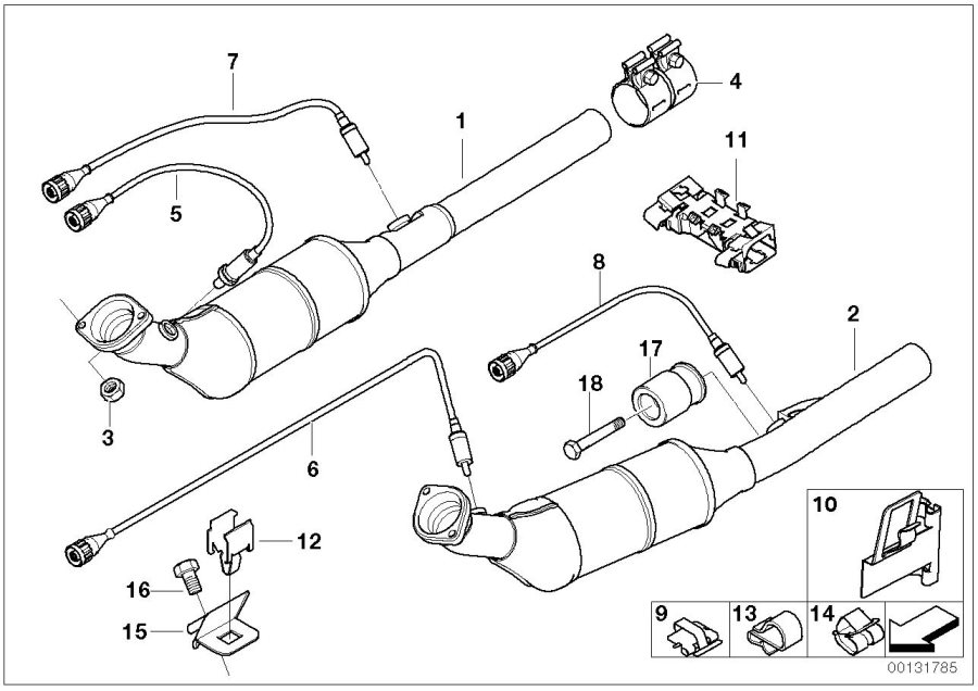 BMW X5 Bracket for connector housing. LAMBDA, PROBE