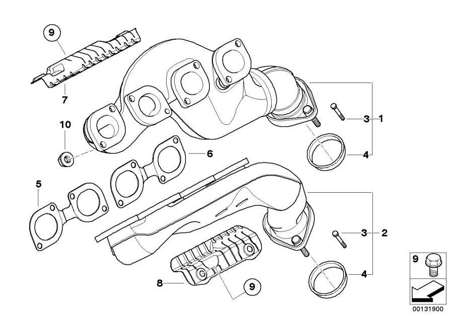 BMW X5 Gasket Asbestos Free. Exhaust, Repair, Manifold
