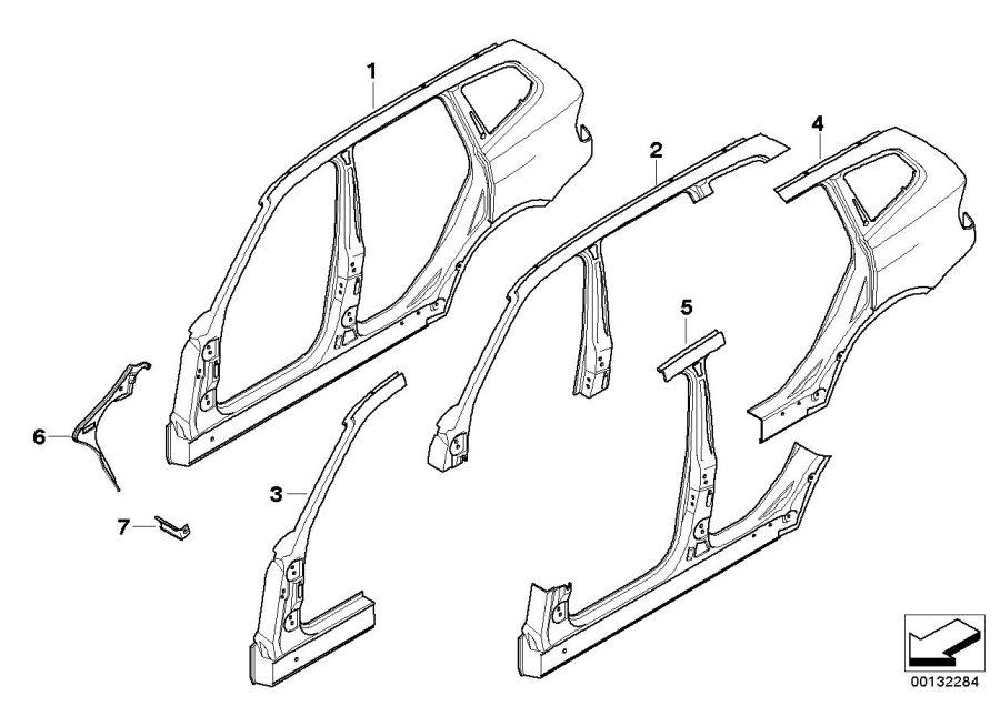 Bmw X3 Body Parts Diagram / 2006 BMW X3 Drink holder