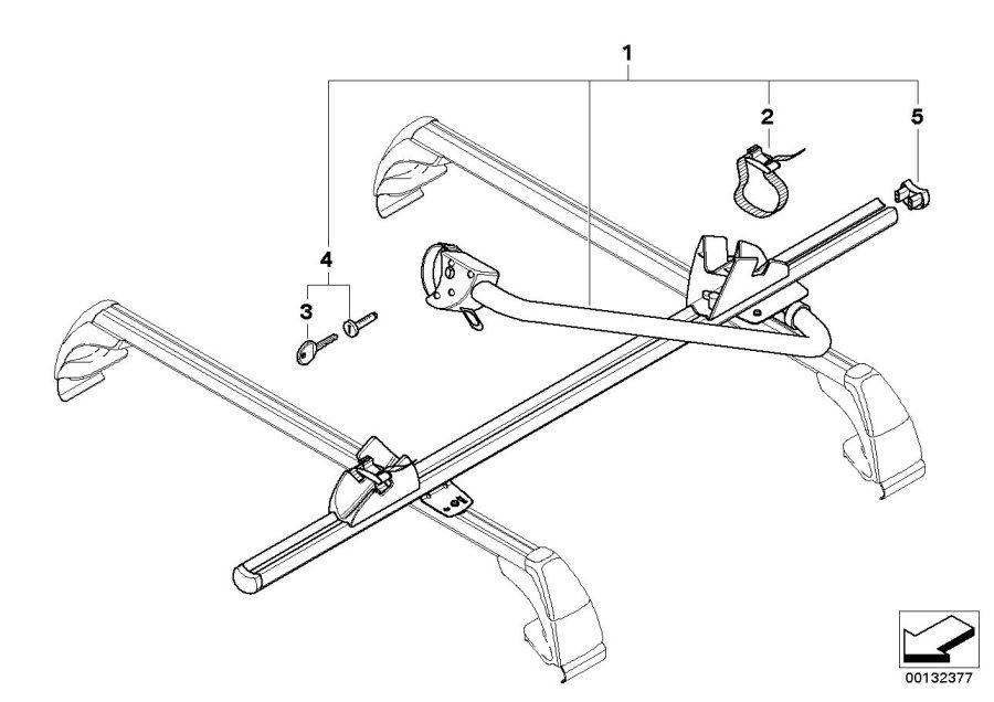 BMW 735iL Key (Code). CODE 001.041. Rack, ECE, Bike