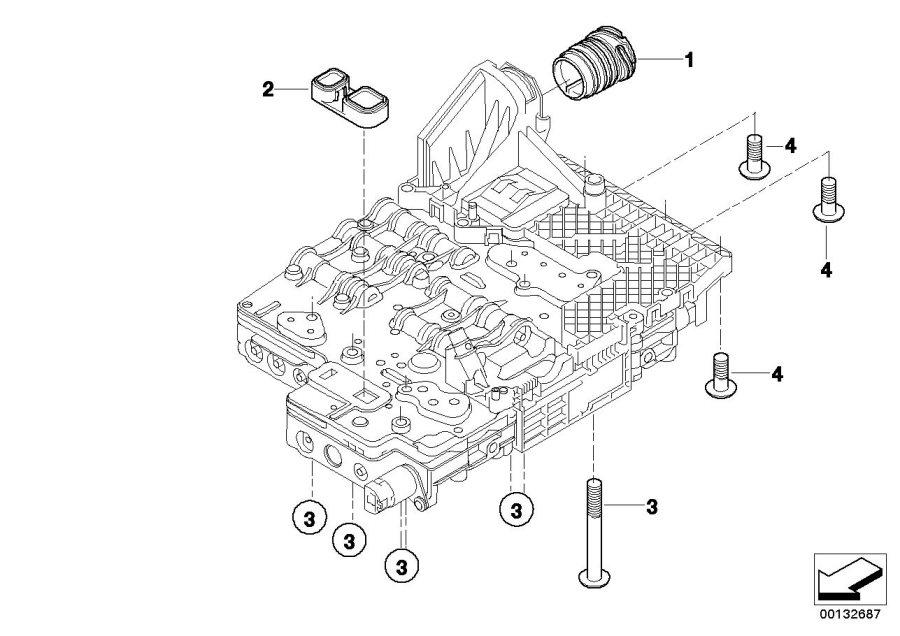 BMW 525xi Adapter. Transmission, Mounting, Mechatronics