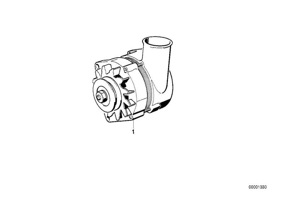 BMW 320i Exch compact generator. 140a. Alternator, system