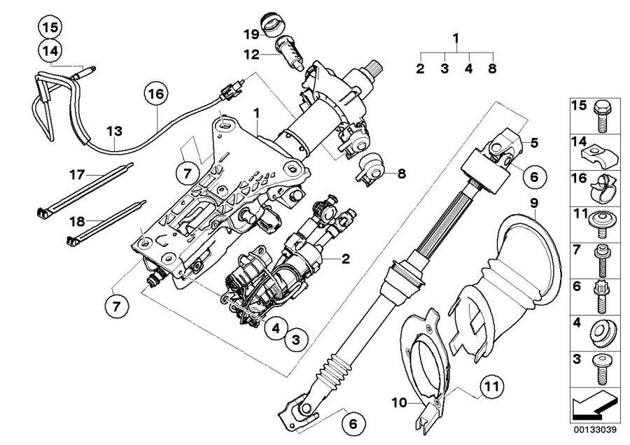 BMW 525i Drive, electronic steering column adjustm