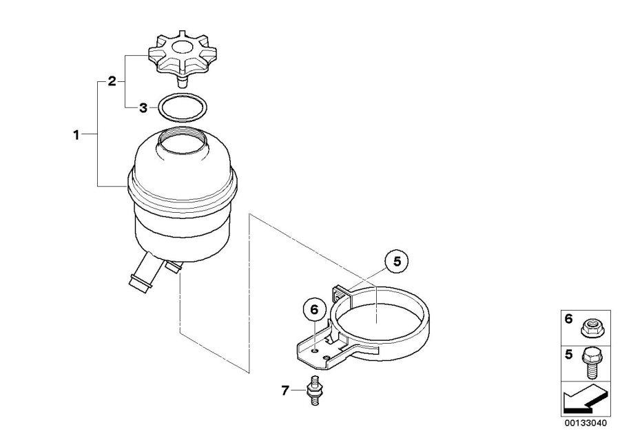 BMW M5 Oil carrier. System, suspension, single