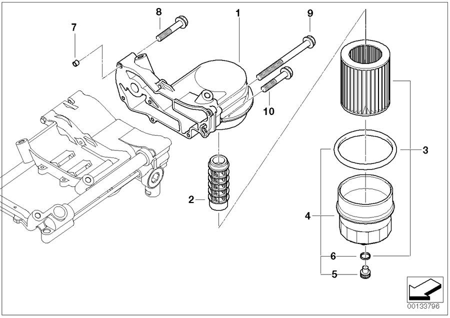 BMW X5 Set oil-filter element. Engine, Service, Tools