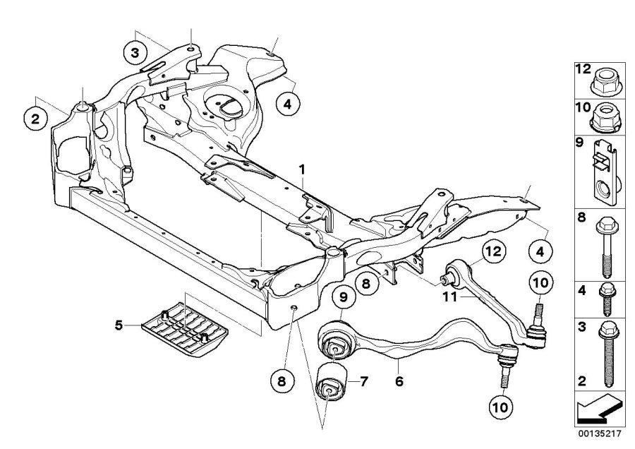 BMW 335d Locking nut. M12x1, 5-10 zns3. Gts, suspension