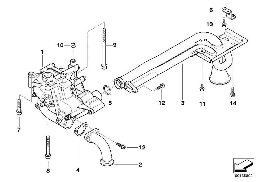 BMW M5 Gasket. Lubrication, System, Pump, OIL, Engine