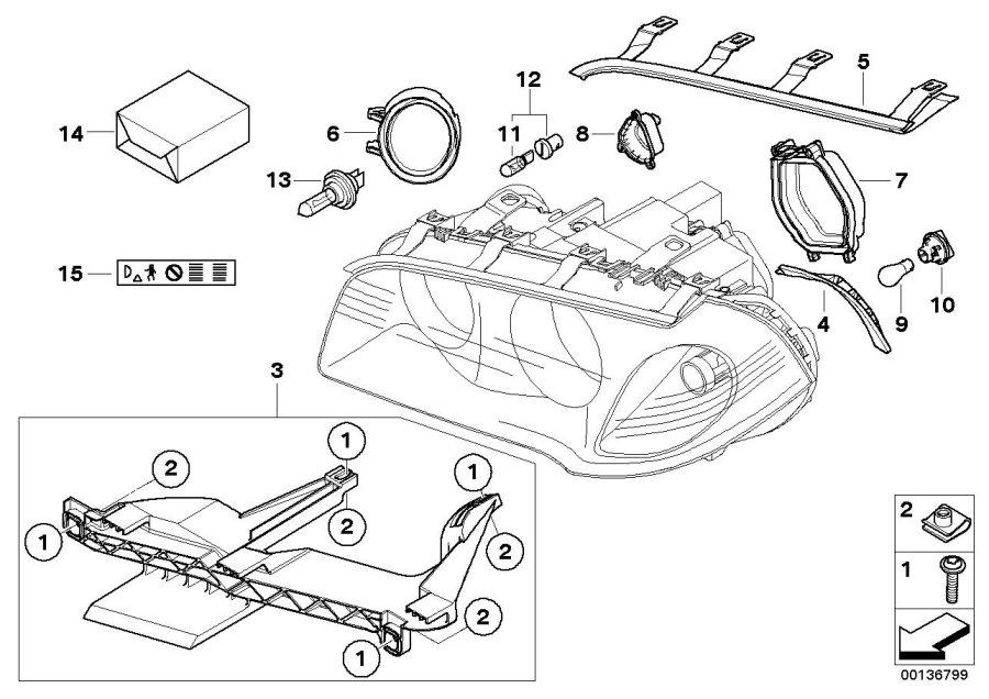 BMW X3 Bulb socket, turn indicator. Headlight, Single