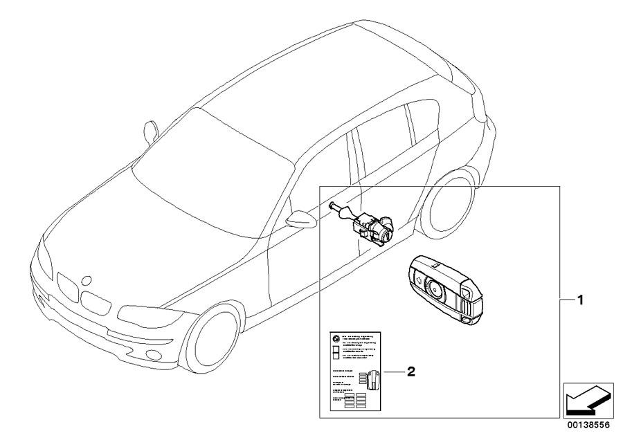 BMW 128i Label Key Memory. Trim, Body, Locking