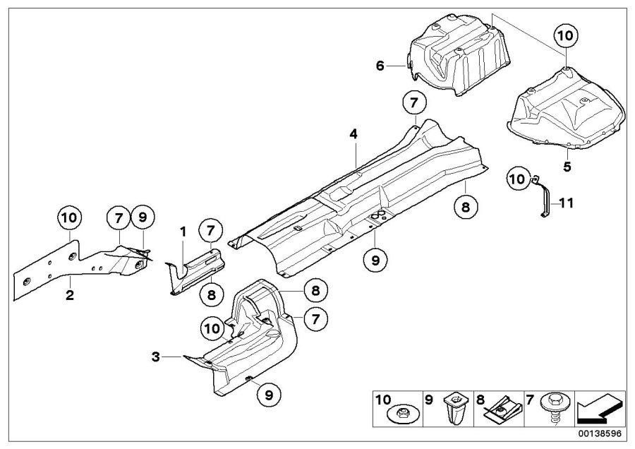 BMW M6 Left engine support heat insulation. Trim, Body
