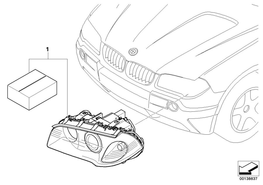 BMW X3 Retrofit kit bi-xenon headlight. Element, DEVICE