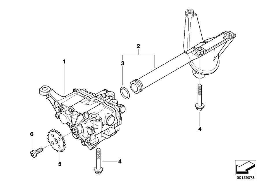 BMW 330xi Set of aluminium screws oil pump. Engine, Coupé
