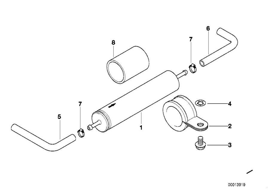 BMW 850Ci Fuel filter. D=55MM/L=260MM. Filters