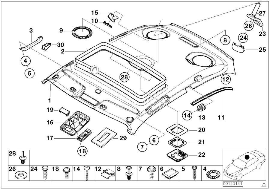 BMW Z3 Screw, self tapping. ST4, 8X16-Z2. Trim, Body