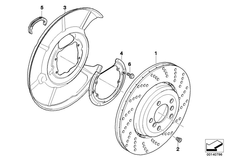 BMW M6 Protection plate left. Brake, disc, wheel