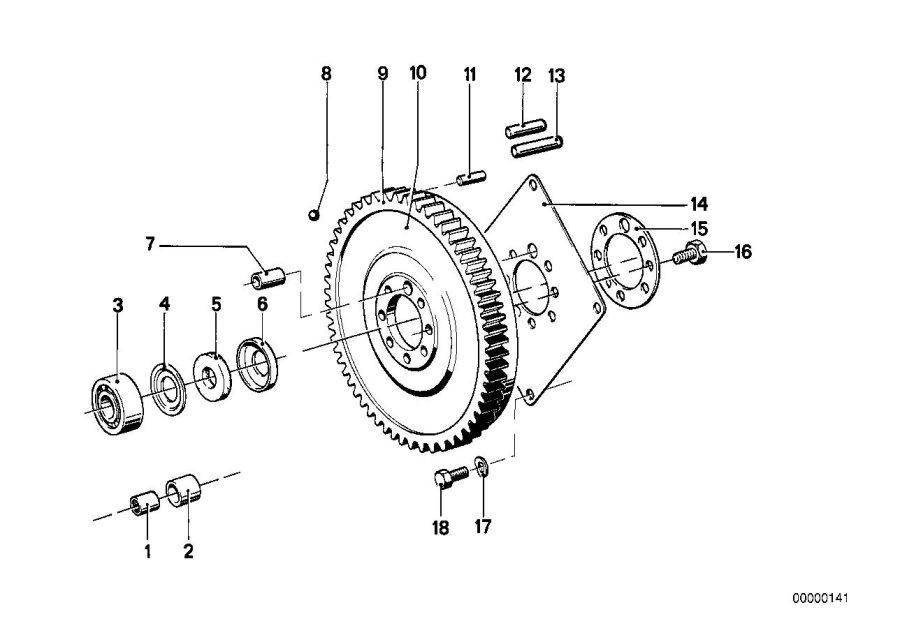 BMW 320i Exch-pressure plate. D=215MM. Clutch, Flywheel