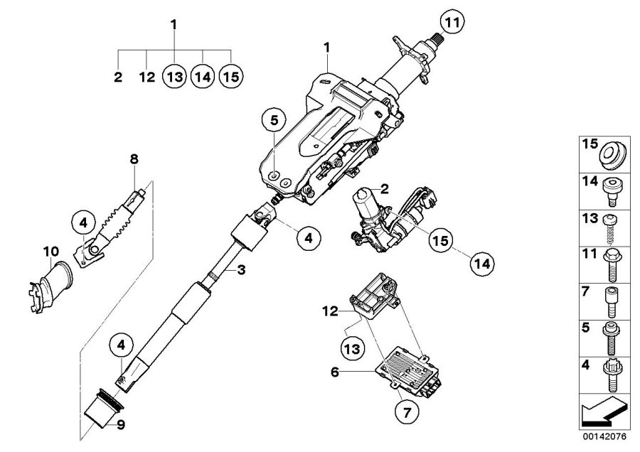 BMW 745Li Drive, electr.steering column adjustm