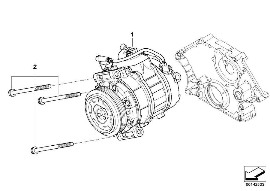 BMW 528i Set of alu. Screws air cond.compress. Compressor