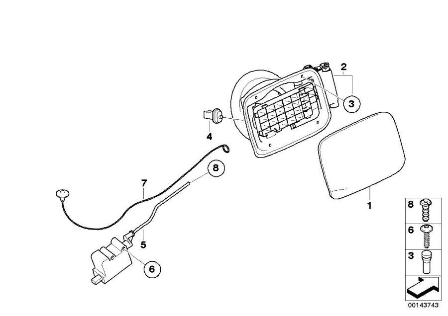 BMW 328xi Emergency mechanism parking lock. Body