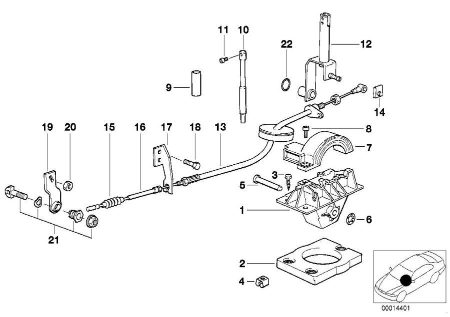 BMW 325i Pull rod. L=121mm. Transmission, gearshift, shift