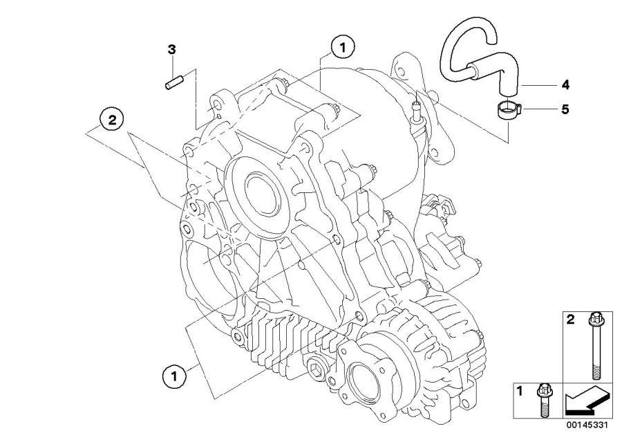 BMW 535xi Dowel pin. 6M6X16. Transmission, Transfer, Case