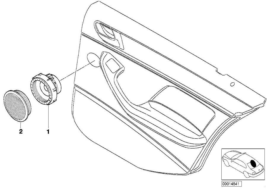 BMW 325xi Cover Loudspeaker. NATURBRAUN. System, Single