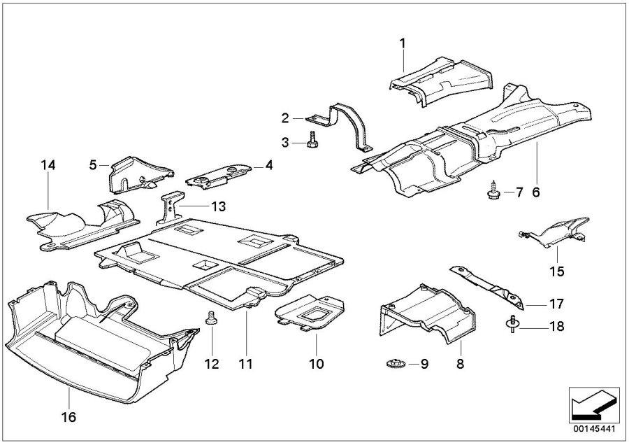 BMW 318ti Tunnel heat resistant plate. Insulation, trim