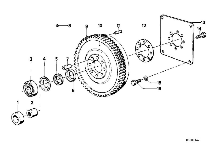 BMW 735i Twin Mass Flywheel. Engine, Drive, Crankshaft