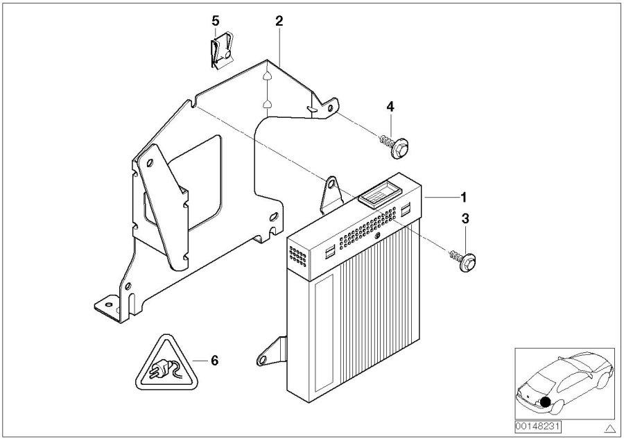 BMW 323Ci Amplifier Hifi Harman Kardon. System, HOLDER