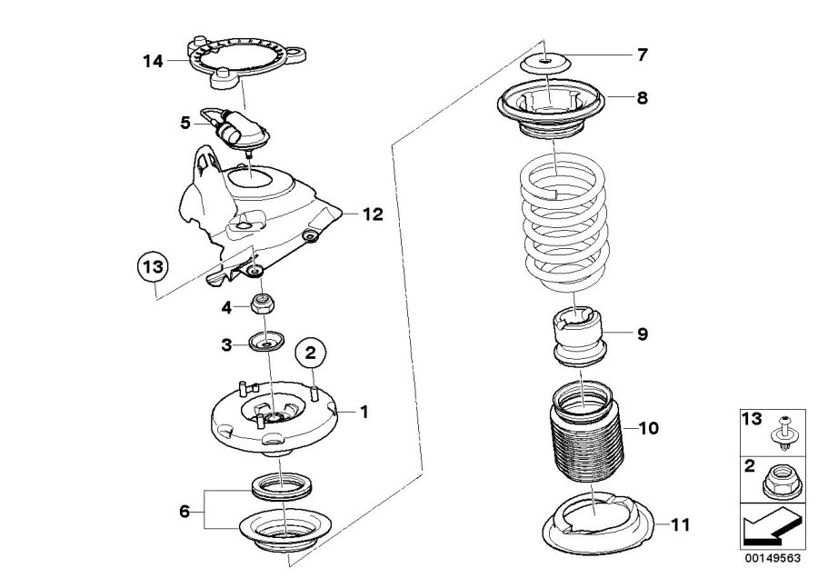 BMW M Coupe Support. GUIDE, Suspension, SPRING