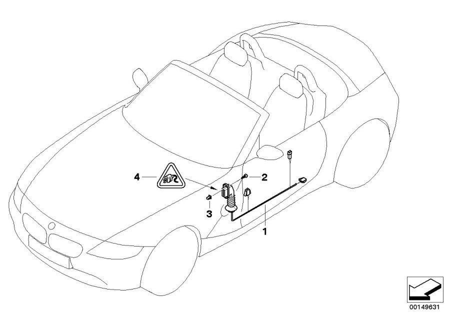 BMW Z4 Pin-contact ELO- Power 5, 2 x 0, 63. 2, 5-4, 0MM²