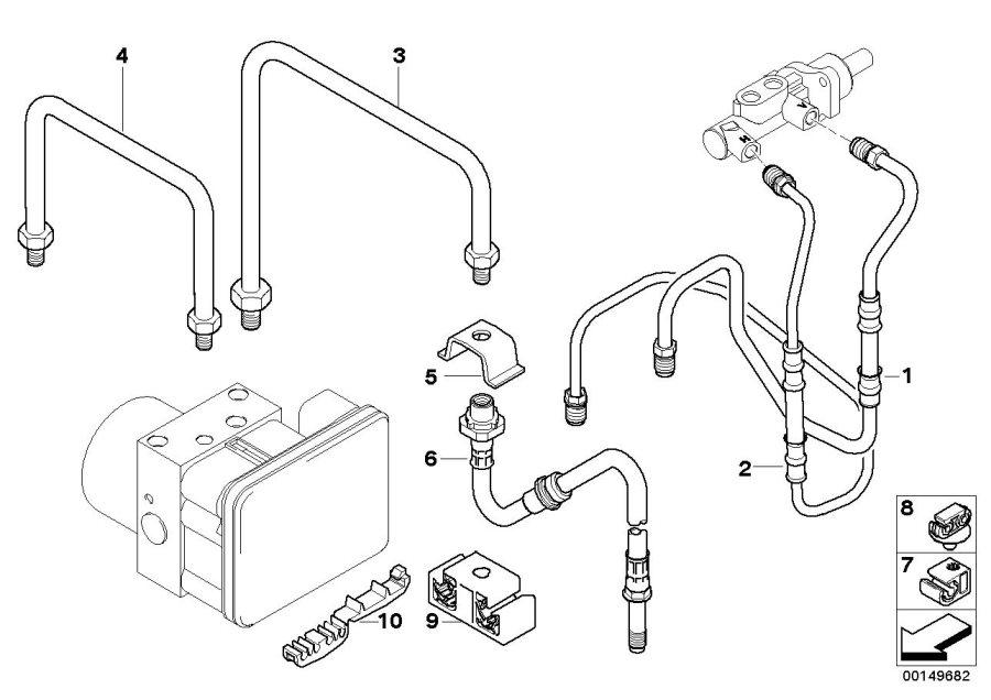 BMW Z4 Pipe. M10/M10-2104MM. Brake, Rear, Brakes