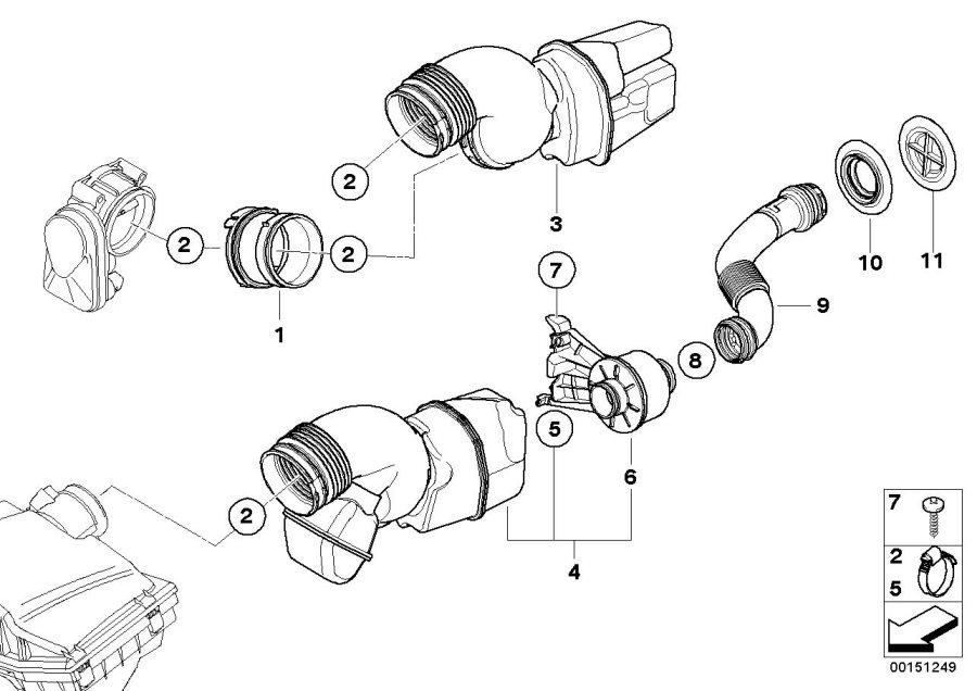 BMW Z4 Sound conducting medium. Fuel, Intake, System