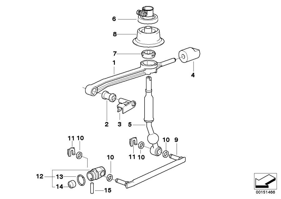 BMW 320i Bent selector rod. Transmission, gearshift