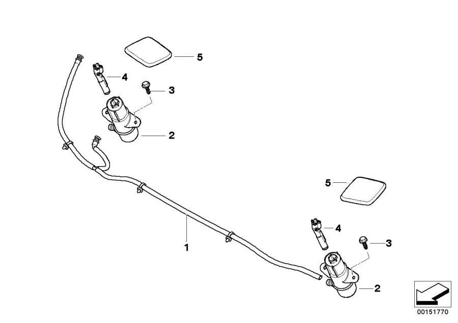 BMW 135i Housing, high-pressure nozzle. Lamp, Head